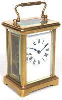 Antique French Classic 8-Day Carriage Clock Classic Case with Enamel Dial