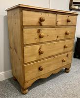 Antique Victorian Pine Chest of Drawers with Key (3 of 15)