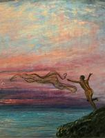 'The Last Throw' Original Signed 1972 Vintage Seascape Oil On Board Painting' (9 of 13)