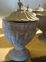 Suite of 8 Late 19th Century Robert Adam Influenced Lead Urns (3 of 4)