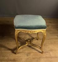 Beautiful French Giltwood Dressing Table Stool (5 of 12)