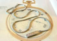 Vintage Pocket Watch Chain 1970s Long Silver Chrome Snake Link Albert & Belt Clip (2 of 10)