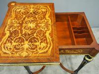 Louis XV Style French Marquetry Games / Side Table (11 of 15)