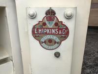 Antique Hopkins Birmingham Cast Iron Compact Safe with 2 Keys (9 of 9)