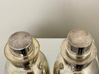Pair of Decorative Art Deco Style Silver Snowmen Cocktail Shakers (3 of 42)
