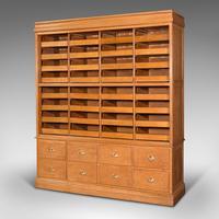 Very Large Antique Haberdashery Cabinet, Oak, Collector, Shop, Rack, Edwardian (3 of 12)