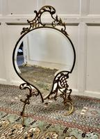 Superb French Brass Rococo Fire Screen