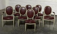 Set of 8 French Dining Chairs Lovely Original Finish (5 of 18)