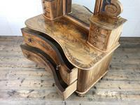 Antique 19th Century Concave Mahogany Dressing Table (9 of 21)
