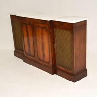 Georgian Style Mahogany Marble Top Sideboard c.1950 (4 of 9)
