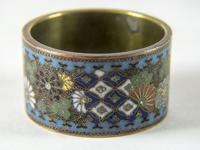 Antique Japanese Cloisonne Scroll Ring (3 of 4)