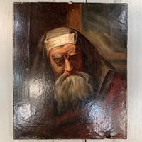 Antique oil painting portrait of a Jewish Rabbi (10 of 10)