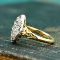 The Antique Late Victorian Marquise Fifteen Diamond Ring (4 of 5)