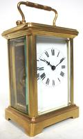 Antique French Classic 8-Day Carriage Clock Classic Case with Enamel Dial (4 of 5)