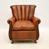 French Style Leather Club Armchair (2 of 6)