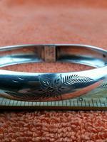 Art Nouveau Hallmarked 925 Sterling Silver Bangle Cuff Bracelet Salerno, Italy (2 of 9)