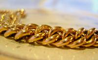 Victorian Pocket Watch Chain 1890s Antique Large 14ct Rose Gold Filled Albert With T Bar (6 of 11)