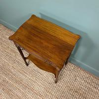 Small Edwardian Mahogany Antique Side Table (5 of 5)