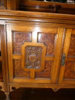 English 19th Century Walnut & Amboyna Cabinet (9 of 11)