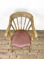Early 20th Century Beech Smoker's Bow Chair (3 of 8)