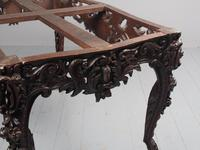 Victorian French Carved Fruitwood & Marble Top Console Table (16 of 19)