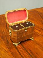 George IV Inlaid Rosewood Tea Caddy (3 of 9)