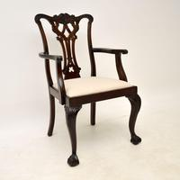 Set of 8 Antique Mahogany Chippendale Dining Chairs (3 of 14)