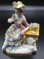 Late 19th Century Meissen Figure of a Seated Young Lady (2 of 6)