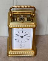 Bell Striking and Repeating and Alarm Gorge Case Carriage Clock (9 of 11)