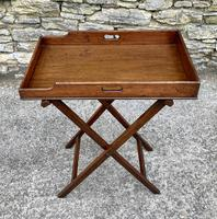 Small Antique Mahogany Butlers Tray on Stand (2 of 15)