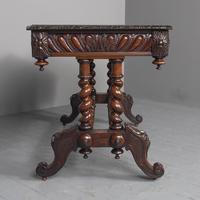 Antique Oak Flemish Writing Table (9 of 15)