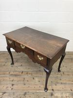 Antique Oak Lowboy Side Table (9 of 10)
