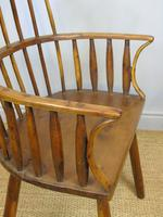 Charming 18th Century Yew Wood Comb Back Chair (7 of 10)