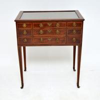 Antique Georgian Period Inlaid Mahogany Display Case Table (2 of 12)