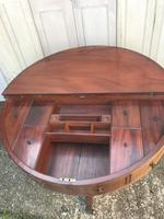 Superb and rare regency country house gentleman's drum table washstand (3 of 26)