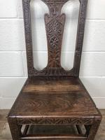 Antique Victorian Carved Oak Chair (4 of 14)