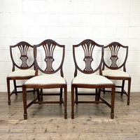 Set of Four 20th Century Mahogany Dining Chairs