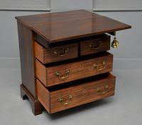 Small Georgian Mahogany Bachelors Writing Chest of Drawers with Provenance (11 of 24)