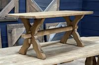 Rustic French Bleached Oak Coffee Table (3 of 20)