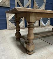 Deep Bleached Oak French Farmhouse Dining Table (12 of 20)