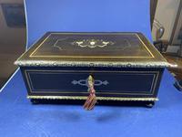 19th Century French  Ebonised Fruitwood Jewellery Box (5 of 18)