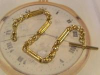 Vintage Pocket Watch Chain 1950s 12ct Gold Plated Large Fancy Link Albert Victorian Revival (4 of 12)