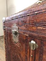 Large Leather Bound Dome Top Trunk (14 of 15)
