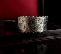 Victorian silver cuff bangle, Aesthetic (5 of 15)