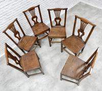 Set of 6 Georgian Welsh Oak Dining Chairs (5 of 8)