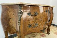 French Chest of Drawers Bombe Commode with Marble Top (5 of 12)
