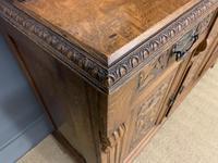 Victorian Carved Oak 3 Door Bookcase (12 of 23)