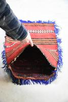 Afghan Red Saddle Bag Cushion Cover (8 of 9)