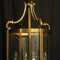 French Pair of Bronze Antique Hall Lanterns (6 of 10)