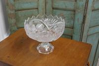 Large French Tazza Etched Cristal Pedestal Fruit Dish (3 of 5)